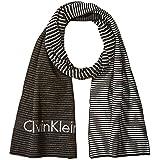 Calvin Klein Men's Ombre Logo Jacquard Muffler Scarf, Black, One Size