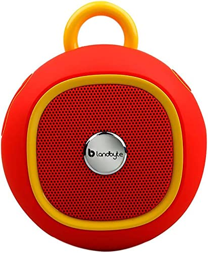 LANDBYTE LB-270 Red Round Outdoor Portable Waterproof Bluetooth Speaker Amplifier 4.0 – Super Bass Player -USB Support High-Speed Data Transmission