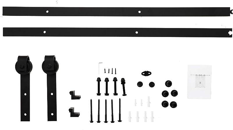 BigButterflyde 8FT//244cm Schiebet/ürbeschlag Set Laufschienen f/ür Schiebet/ür Schiebet/ürsystem H/ängeschiene Laufschiene T/ür Hardware Kit