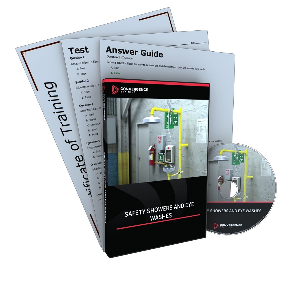 Convergence C-394 Safety Showers and Eye Washes Training Program DVD, 28 minutes Time