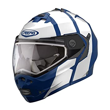 Caberg Duke II Impact - Casco de moto, color azul y blanco