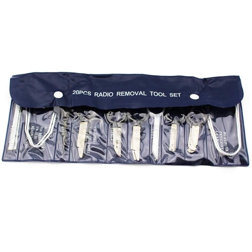 HTL 20pcs Stereo Radio Removal Tool Kit Key Repair Tool Set