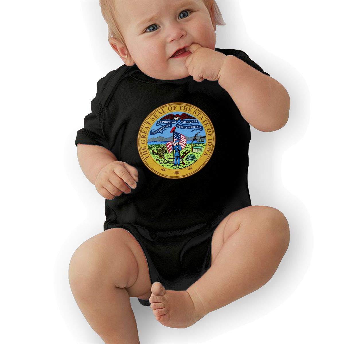 HappyLifea Iowa State Seal Newborn Baby Short Sleeve Romper Infant Summer Clothing