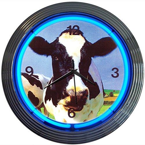 Neonetics Retro Cow Neon Wall Clock, 15-Inch