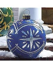 Kerstversiering, opblaasbare kerstbal, kerstbal van pvc, gepersonaliseerde boomversiering, 60 cm