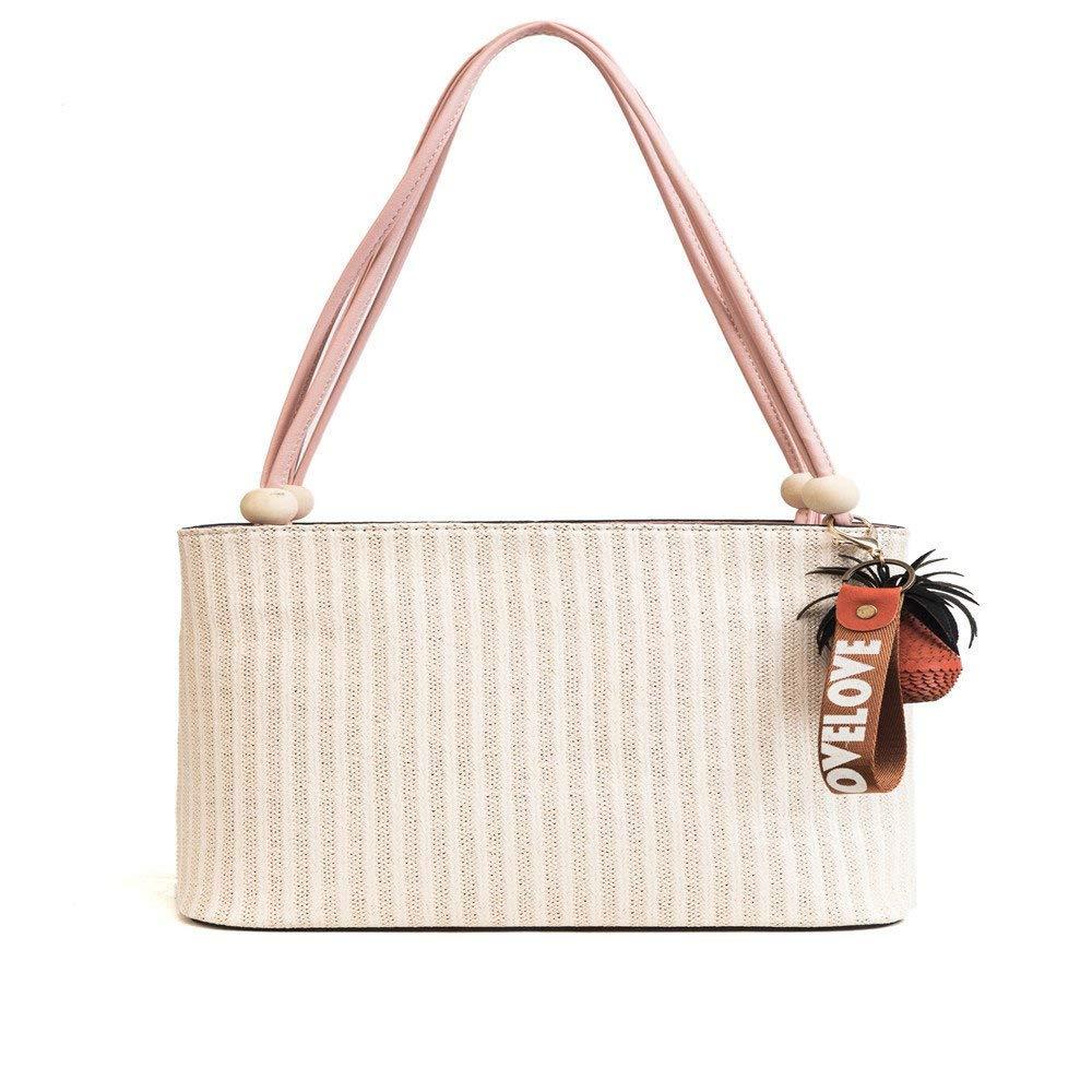 Huasen Evening Bag Women's Bag  Summer New   Casual Straw   Versatile Shoulder Bag    Messenger Bag     Chain    Fashion Party Handbag