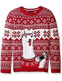Boys' Llama Fitness Xmas Sweater,