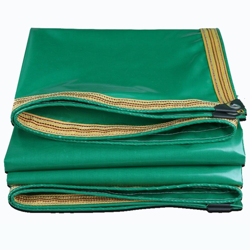 JIANFEI Plane Regenfestes Sonnenschutzmittel Wasserdichtes Haltbares KorrosionsBesteändiges PVC, 3 Farben 350g M2 Stärke 0.35mm (Farbe   Grün, größe   4.8mx11.2m)