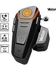 Veetop Intercomunicador Bluetooth Auricular para casco de moto - 1000M / Paquette 1 (cargador UK