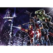 "Wall Mural, Photo Wallpaper CITY NIGHT 8'4""x6' Marvel comic hero, Hulk, Captain America, Black Widow, Ironman, Thor, Hawkeye, Avengers"