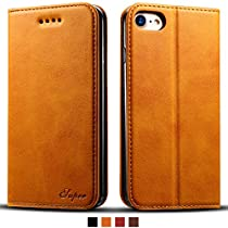 IPhone Leather Wallet Cell Phone Card Slots Case Kickstand Protective Flip Cover