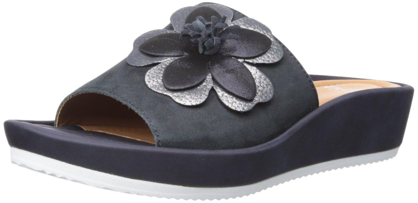 ara Women's Thea Slide Sandal B074XV1NZ9 39 M EU (8.5 US)|Blue Nubuck