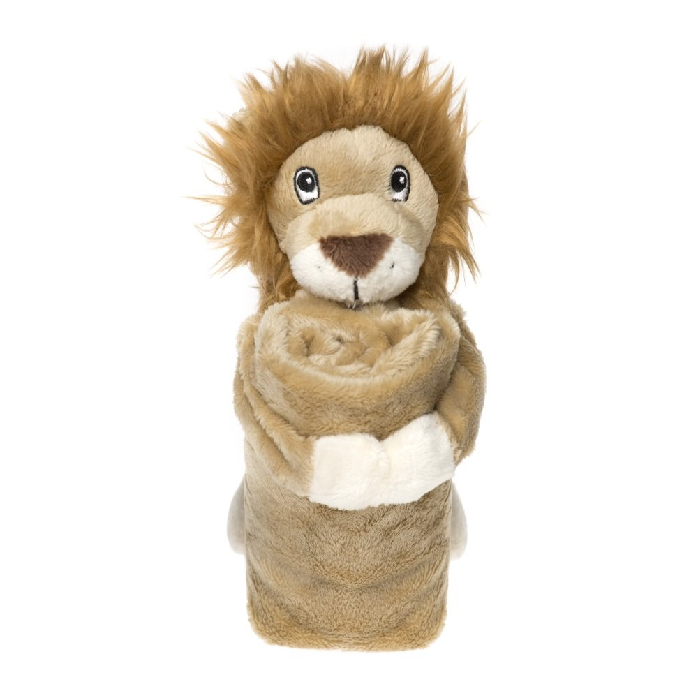 Bobo Blankies - Coperta con peluche a forma di leone