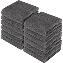 Utopia Towels Premium 700 GSM Washcloths Towel Set (12 Pack, Grey, 12 x 12 Inches) Multi-Purpose Extra Soft Fingertip Towels, Highly Absorbent Face Cloths, Machine Washable Sport, and Workout Towels