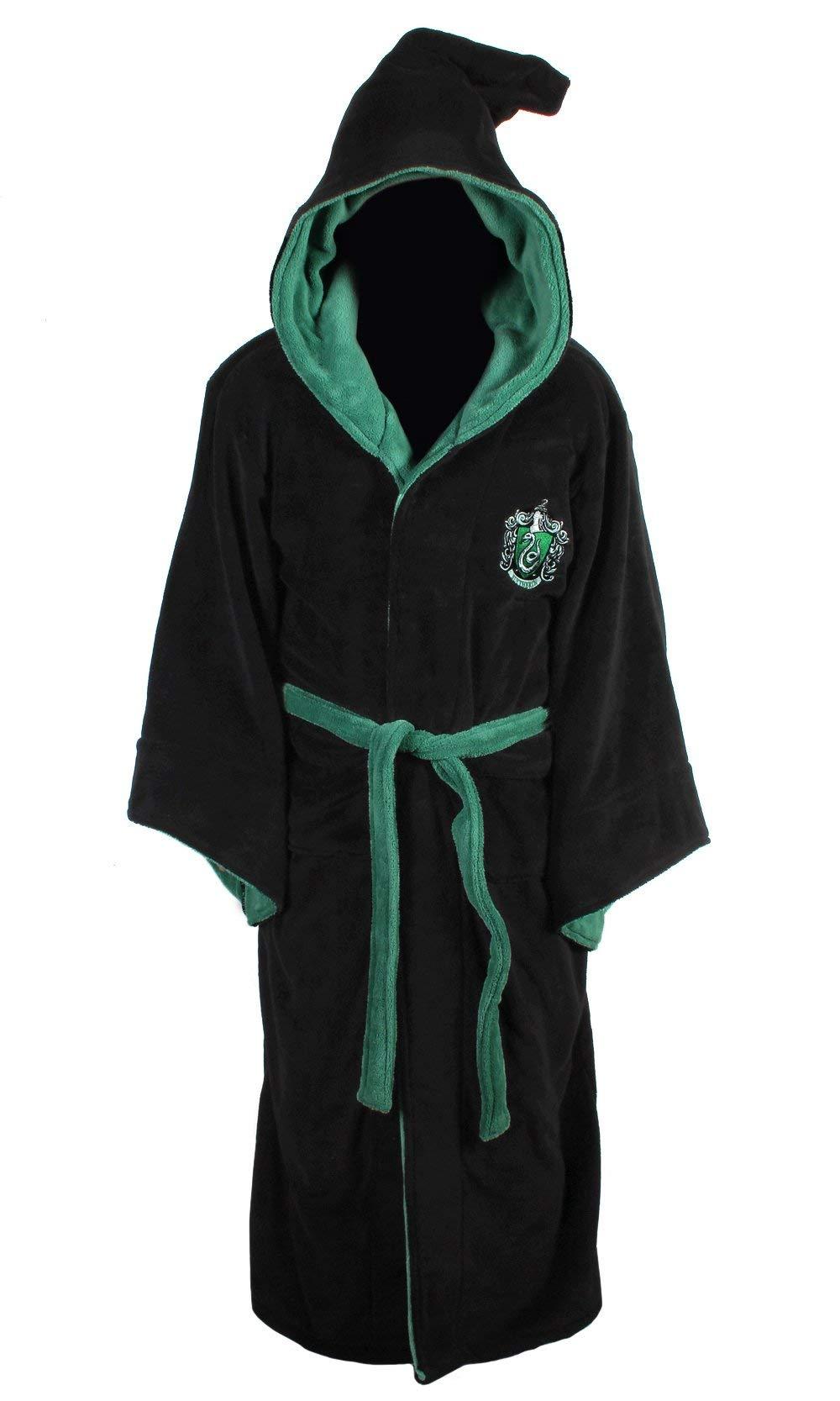 Oficial Harry Potter Hogwarts Slytherin asistente paño grueso y suave bata albornoz product image