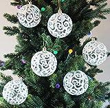 #6: Festive Season White Christmas Ball Ornaments