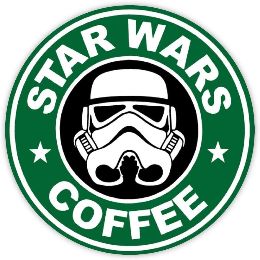 "Star Wars coffee sticker decal 4"" x 4"""