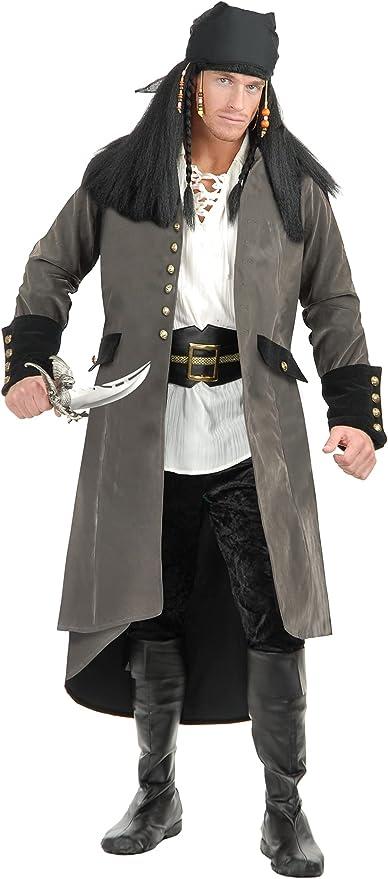 Green Black Pirate Treasure Hunter Pants Halloween Costume Accessory Adult Men