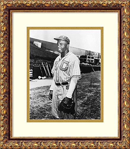 (Framed Wall Art Print | Home Wall Decor Art Prints | Jackie Robinson, Kansas City Monarchs, 1945 by McMahan Photo Archive | Traditional)
