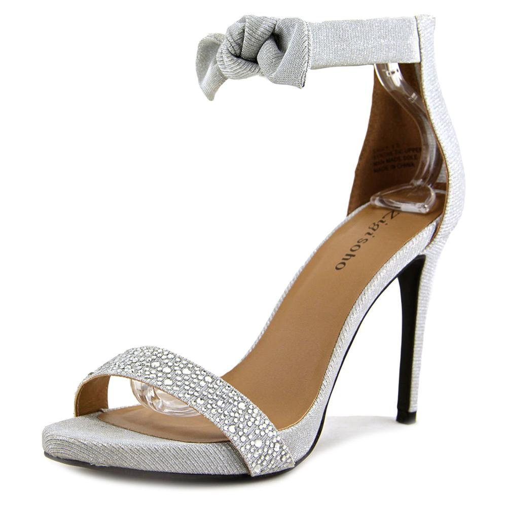 ZIGI SOHO Womens SAULY Fabric Open Toe Special Occasion Ankle Strap Sandals B0781D831B 7.5 B(M) US Silver
