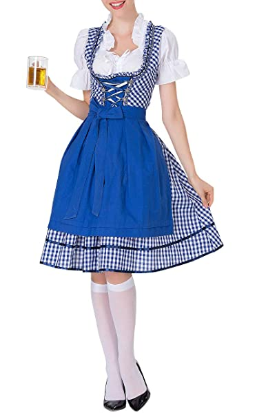 Amazon.com: KELOVE - Disfraz de tirolesa alemana para mujer ...