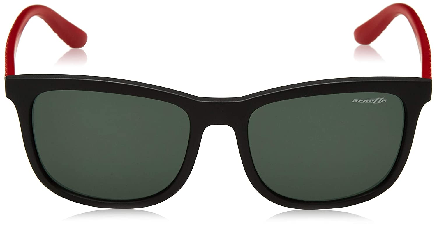 Matte Black Arnette Mens Chenga Square Sunglasses 56.0 mm 0AN4240