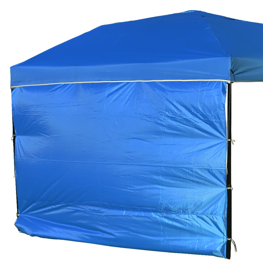 NINAT Side Sunshade Privacy Panel Wall for 10 ft Gazebos Canopy Tent Waterproof, blue