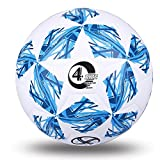 Size 20CM Circumference White & Blue Color Football Training Balls Anti-Slip