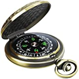 Leabertee Multifunctional Zinc Alloy Classic Compass for Hiking, Camping, Motoring, Boating, Backpacking, Gift and…