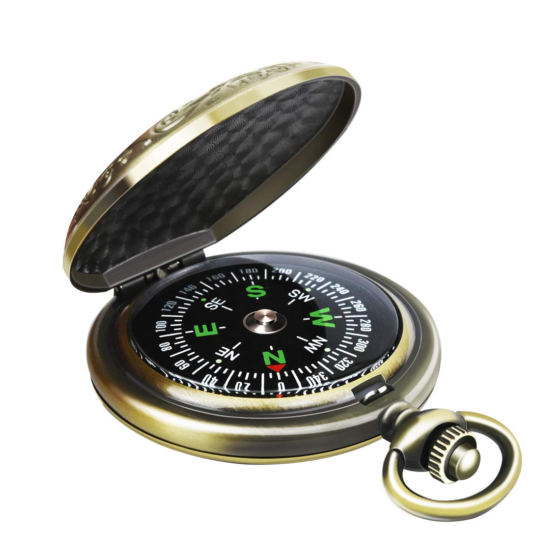 Boating Motoring Backpacking Camping Leabertee Multifunctional Zinc Alloy Classic Compass for Hiking Gift and Collection