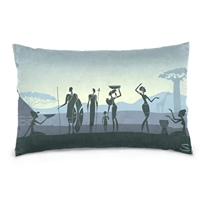 Strange Amazon Com South Africa Silhouette Throw Pillow Cover Onthecornerstone Fun Painted Chair Ideas Images Onthecornerstoneorg