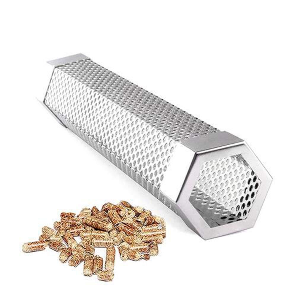 BeneU Pellet Smoker Tube 12Edelstahl BBQ Pipe Durable Edelstahl Hexagon 5 Stunden Zus/ätzlicher Kalter Rauch Kochen Im Freien Barbecue Tool Zubeh/ör Rauchgenerator Absorber F/ür Alle Elektro- Gas