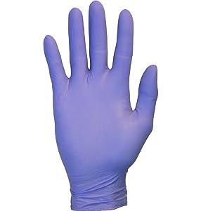 Nitrile Exam Gloves - Medical Grade, Powder Free, Disposable, Non Sterile, Food Safe, Textured, Indigo Color, Convenient Dispenser Pack of 100, Size Medium
