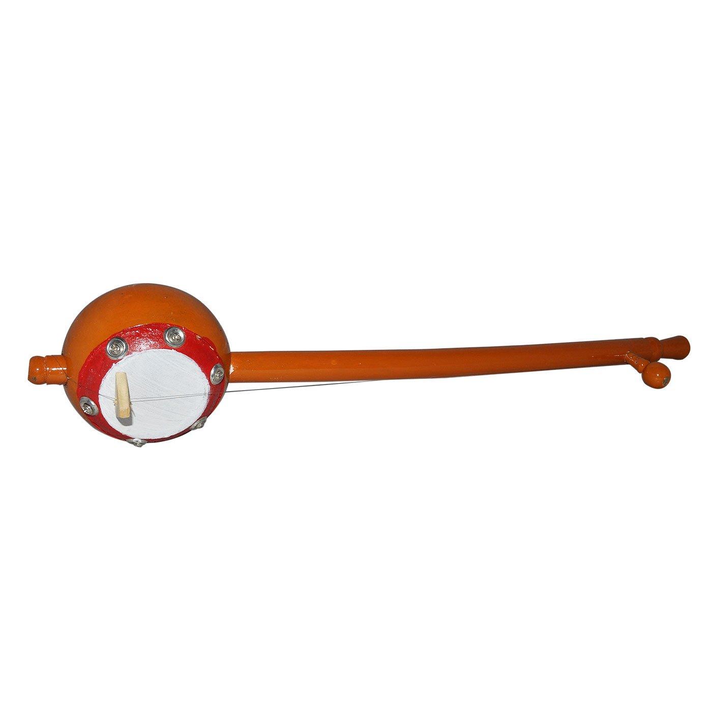 Handmade Wooden Ektara Single String Indian Folk Instrument