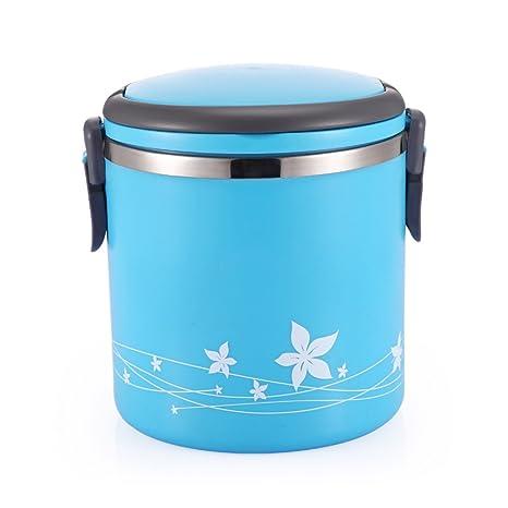 Amazon.com: lishuji Lunch Box Portable conservación de calor ...