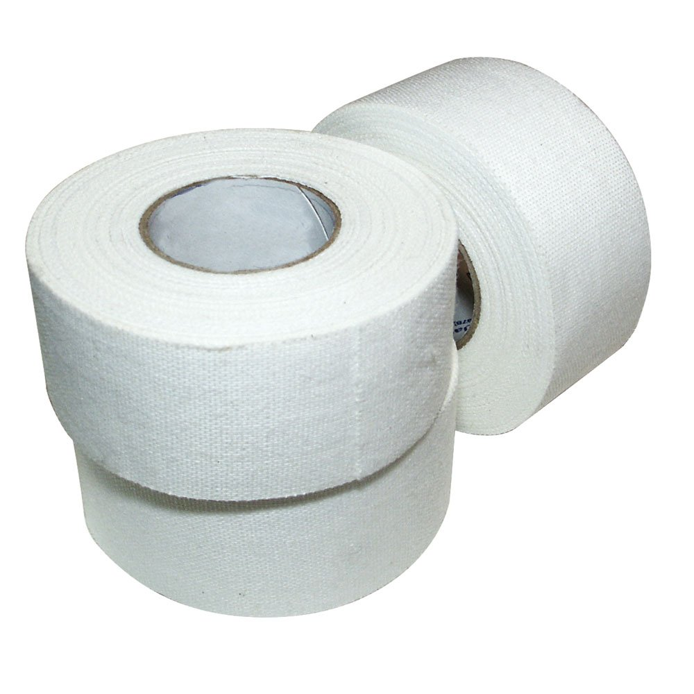 Ringside Athletic Sport Trainers Boxing Muay Thai Kickboxing Extra Strong Cotton Tape 2'' (White, 10 Rolls)