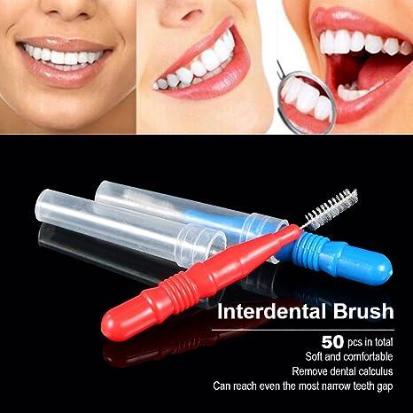 Portal Cool 50 Unids Hilo Dientes Higiene Bucal Hilo Dental Suave Interdental Cepillo Palillo de Dientes