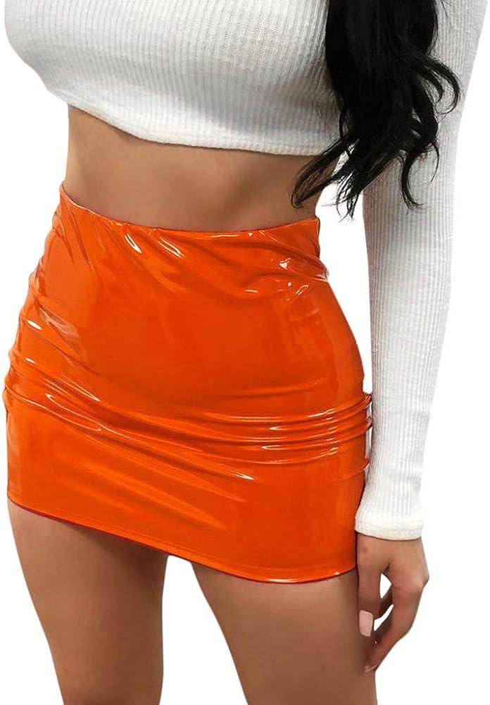 bf25f5dfd Sylar Faldas Cortas Mujer Verano Sexy Faldas De Cuero Mujer Color ...