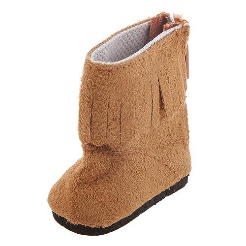 1 Paire Chaussures Bottes pour Poupée 16 inch 40cm - Brun