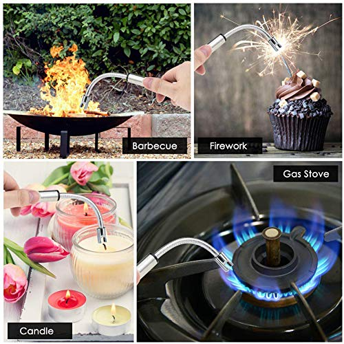 Candle Lighters,USB Rechargeable Electric Lighter Long Flexible and Windproof for Candles,Grill,Camping, Kitchen,Stove