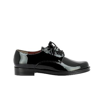ddd61f7342b22 ELIZABETH STUART - Chaussures Ville Femme - Chaussure Ville indémodable  pour Un Look Unisexe très Tendance - Chaussure Cuir de qualité française -  Noir  ...