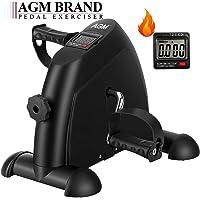AGM Mini Bicicleta Estáticas, Máquinas de piernas, Ejercitador de Pedal para Entrenamiento de Brazos y Piernas …