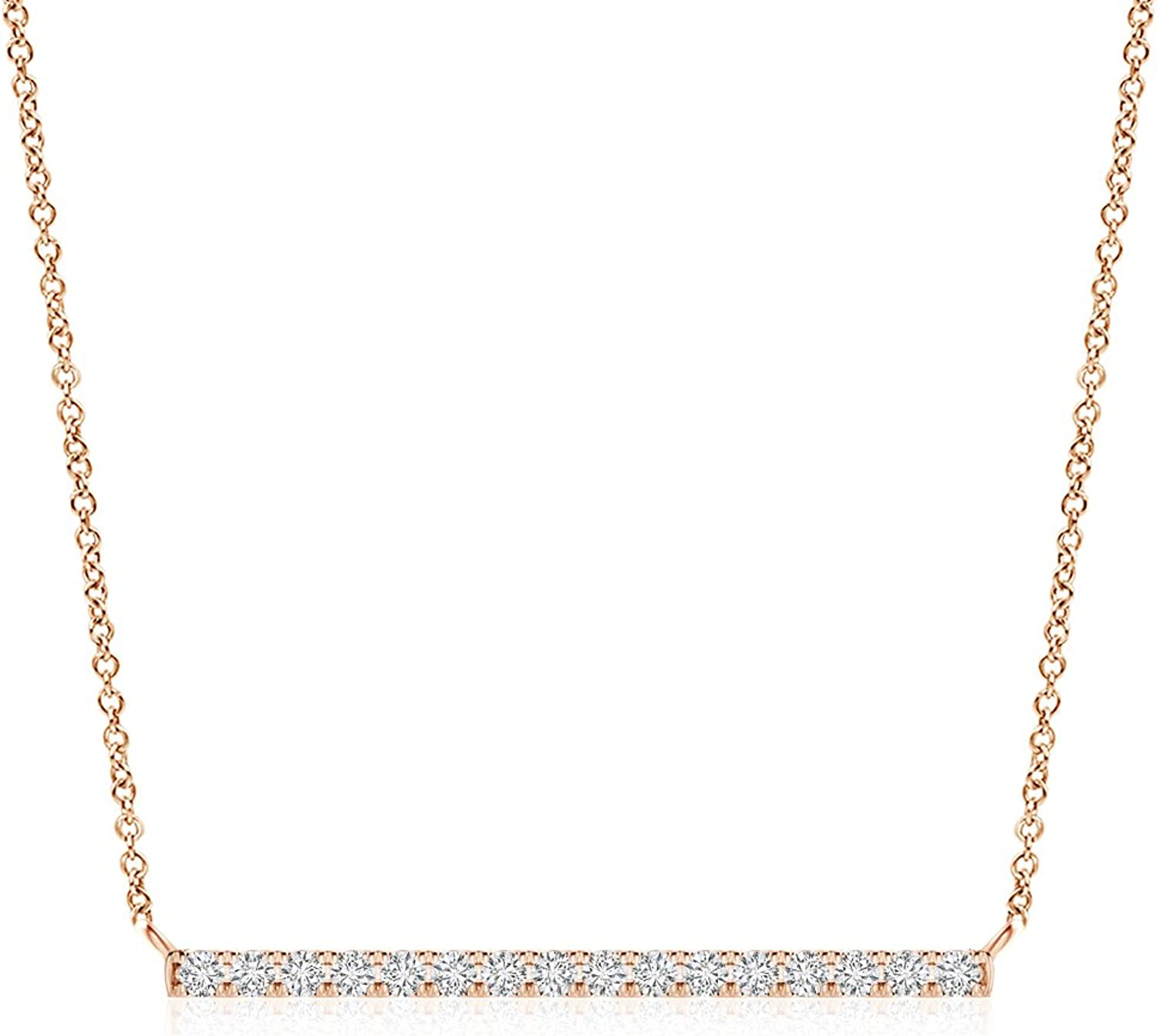 Lab Grown Diamond Chevron Necklace in 14k Gold