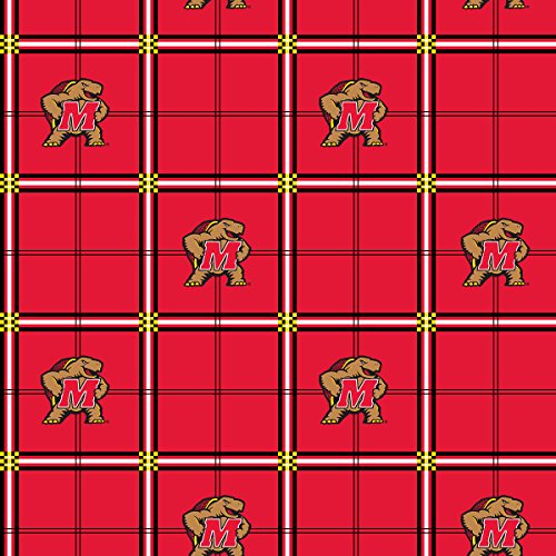 MARYLAND TERPS FLANNEL FABRIC-UNIVERSITY OF MARYLAND FLANNEL FABRIC SOLD BY THE YARD]()