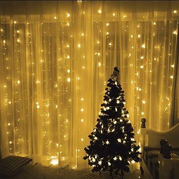 Amazon.com: Tuscom 448LED - Guirnalda de luces para cortina ...