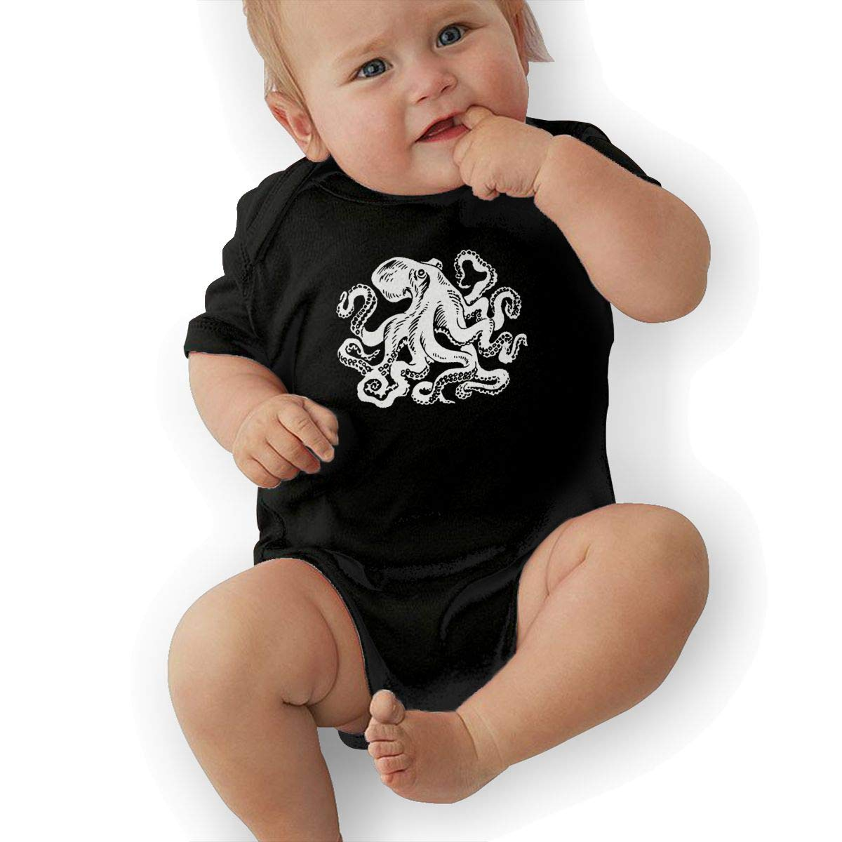 Octopus Infant Baby Girl Boy Romper Jumpsuit Outfit Short Sleeve Bodysuit Tops Clothes