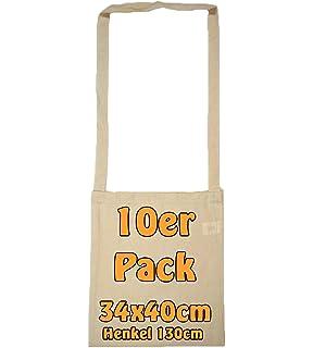 Algodón Bolso unbedruckt con Extra Largo Asa Ideal como kamelle Bolsas para Lanzamiento Material o como sammel Bolsas para Carnaval Natural 34 x 40 cm, 25 Unidades: Amazon.es: Equipaje