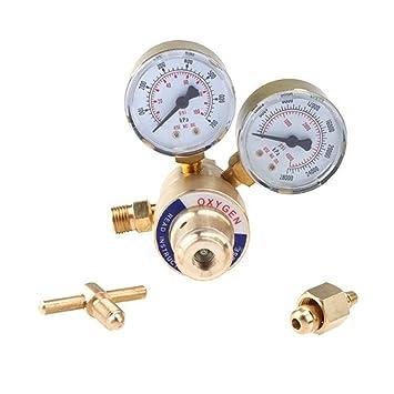 IMAGE Soldadura Gas Soldador oxígeno regulador medidores de Oxy para Victor soplete Corte Kits CGA 540 por: Amazon.es: Hogar