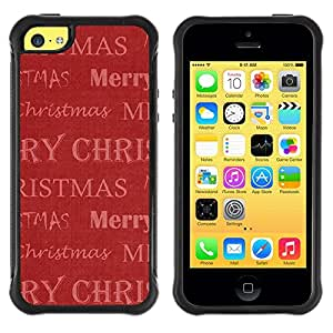 Suave TPU GEL Carcasa Funda Silicona Blando Estuche Caso de protección (para) Apple Iphone 5C / CECELL Phone case / / Christmas Winter Red Gift Holidays /