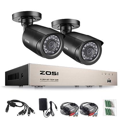 ZOSI 720P CCTV Sistema de Vigilancia, 8CH DVR Grabador de Video + 2* HD